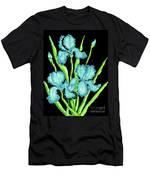 Three  Blue Irises Men's T-Shirt (Athletic Fit)