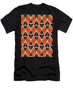Triangles Pattern Men's T-Shirt (Athletic Fit)