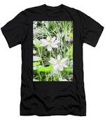 Two Water-lilies Men's T-Shirt (Athletic Fit)