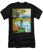Waterfall After Monsoon Men's T-Shirt (Athletic Fit)