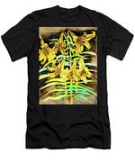 Yellow Lilies, Hand Drawn Painting Men's T-Shirt (Athletic Fit)