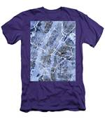 New York City Street Map Men's T-Shirt (Athletic Fit)