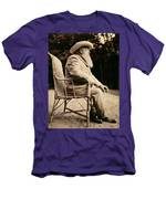 Claude Monet In His Garden Men's T-Shirt (Athletic Fit)