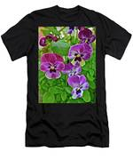 2016 Mid May Pansies 1 Men's T-Shirt (Athletic Fit)