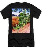 #203 Blue Oak Leaves 2 Men's T-Shirt (Athletic Fit)