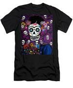 Frida Dia De Los Muertos Men's T-Shirt (Athletic Fit)