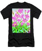 Pink Daily Lilies Men's T-Shirt (Athletic Fit)