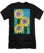 3 Sunflowers Men's T-Shirt (Athletic Fit)