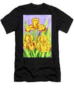 Three Yellow Irises, Painting Men's T-Shirt (Athletic Fit)