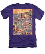 New Orleans Street Map Men's T-Shirt (Athletic Fit)