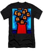 9 Orange Poppies Men's T-Shirt (Athletic Fit)
