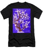 White Tree In Blossom, Painting Men's T-Shirt (Athletic Fit)