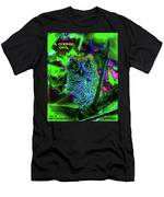 A Cosmic Owl In A Psychedelic Forest Men's T-Shirt (Athletic Fit)
