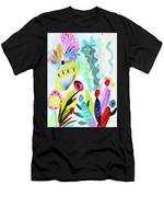 Abstract Cactus And Flowers Men's T-Shirt (Athletic Fit)