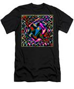 Abstract Colorful Art Exploded View Of Whirlwind At Its Builds On Dry Leaves Men's T-Shirt (Athletic Fit)