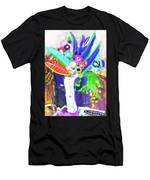 Abstract Flowers Men's T-Shirt (Athletic Fit)