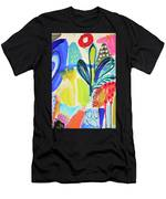 Abstract Jungle And Wild Flowers Men's T-Shirt (Athletic Fit)