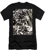 Abstract Rock 3d Art  Huge Stone Mount Made Of Alphabet Soup Men's T-Shirt (Athletic Fit)