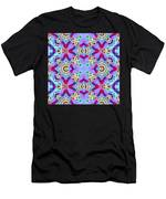 Abstract Seamless Pattern  - Blue Pink Purple Red Green Brown White Men's T-Shirt (Athletic Fit)