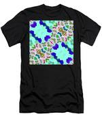Abstract Seamless Pattern  - Blue Turquoise Green Pink White Men's T-Shirt (Athletic Fit)