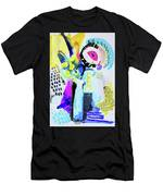 Abstract Wild Flowers Men's T-Shirt (Athletic Fit)
