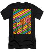 Aceo Abstract Flowers Men's T-Shirt (Athletic Fit)