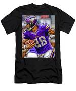 Adrian Peterson Minnesota Vikings Art Men's T-Shirt (Athletic Fit)