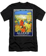 Algeria, Traditional Market, Tourist Advertising Poster Men's T-Shirt (Athletic Fit)