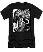 All Blues Man With Jazz On The Side Men's T-Shirt (Athletic Fit)