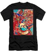 An Abstract Floral Men's T-Shirt (Athletic Fit)
