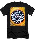 Astral Map Of The World. Black And White Stripes Men's T-Shirt (Athletic Fit)
