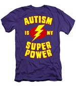 Autism Is My Superpower Men's T-Shirt (Athletic Fit)