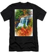 Autumn Blackwater Falls - Paint 3 Men's T-Shirt (Athletic Fit)