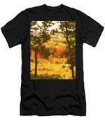 Autumn View, Montelle Winery, Augusta, Missouri Men's T-Shirt (Athletic Fit)