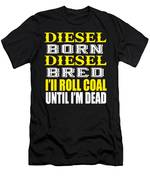 Awesome Diesel Design Born And Bred Men's T-Shirt (Athletic Fit)