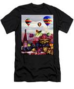 Balloon Ride At Dawn Men's T-Shirt (Athletic Fit)