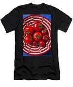 Basket Full Of Red Tomatoes  Men's T-Shirt (Athletic Fit)