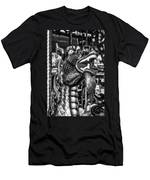 Bearded Dragon Ride Black And White Men's T-Shirt (Athletic Fit)