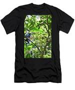 Beautiful Bird Perched In A Tree Men's T-Shirt (Athletic Fit)