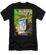 Behind The Blue Door Men's T-Shirt (Athletic Fit)