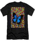 Big Blue Butterfly Men's T-Shirt (Athletic Fit)