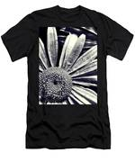 Black And White Daisy  Men's T-Shirt (Athletic Fit)