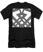 Black And White Diamond Men's T-Shirt (Athletic Fit)