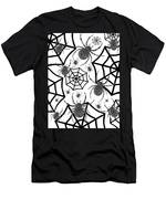 Black And White Halloween Men's T-Shirt (Athletic Fit)