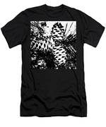 Black And White Pine Cone Men's T-Shirt (Athletic Fit)