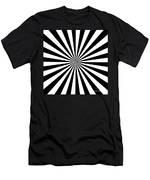 Black And White Starburst Men's T-Shirt (Athletic Fit)