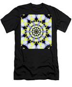 Black, White And Yellow Sunflower Men's T-Shirt (Athletic Fit)