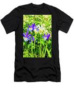 Blue And White Iris Men's T-Shirt (Athletic Fit)