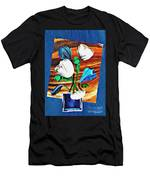 Blue And White Tulips Men's T-Shirt (Athletic Fit)