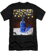 Blue Bottle And Flowers Men's T-Shirt (Athletic Fit)